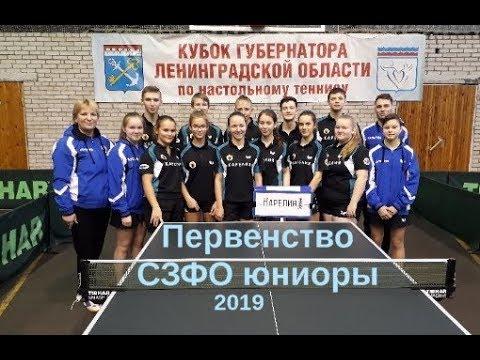 Первенство России СЗФО среди юниоров 2001г р 2019 по настольному теннису