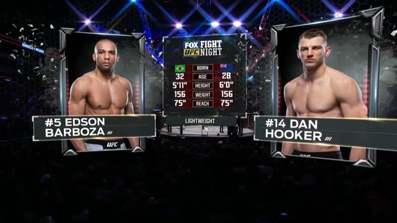 UFC FOX 31 Эдсон Барбоза — Дэн Хукер