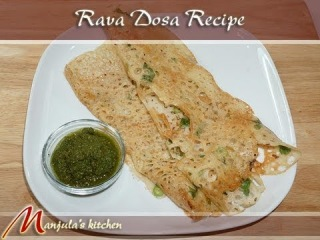 Rava Dosa (Crispy Indian Crepe) Recipe by Manjula