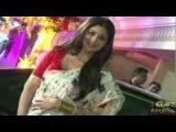 Shilpa Shetty In Red and White Cow-Print Masaba Saree At Sanjay Dutts Mata Ki Chowki