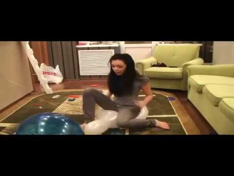 Alissa sit to pop many ballons Looner's Base