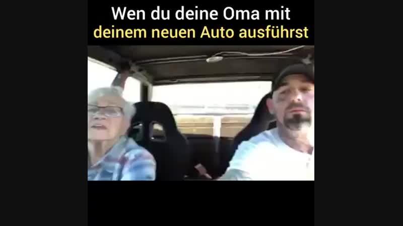 Die Oma und das neue Auto