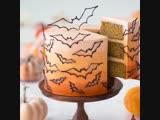 Шоколадный декор торта на Хеллоуин