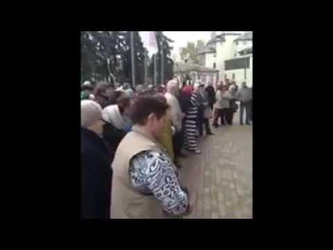 Анти иудейский митинг против засилья Хазарского каганата в Виннице 30 октября 2018 г