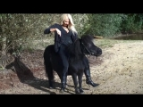 Blonde Mature ride pony lakeside