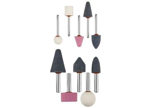 Набор : Абразивные минишарошки-насадки для гравера и дрели, хвостовик d 3,2 мм, d 6 мм   ЗУБР