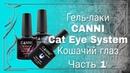 Гель лаки Canni кошачий глаз Cat Eye Обзор гель лаков Часть 1