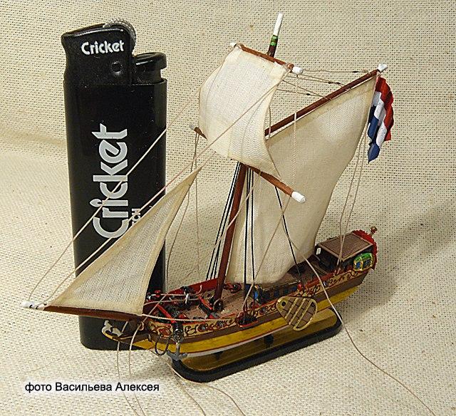 GOLDEN YACHT корабль в бутылке. Масштаб 1:300 KTVG6GqHdKg