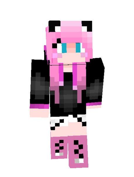 Скин девочки с розовыми волосами по нику