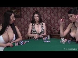Busty babes Hitomi Tanaka , Anri and Arena - Poker