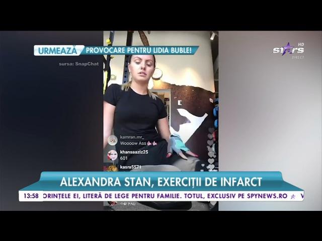 Alexandra Stan exerciţii de infarct Ce program de fitness are artista