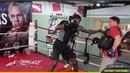 🚨Deontay Wilder and Trainer Jay Deas Mimics Tyson Fury Herky-Jerky Fighting Style🤛🏾⁉️