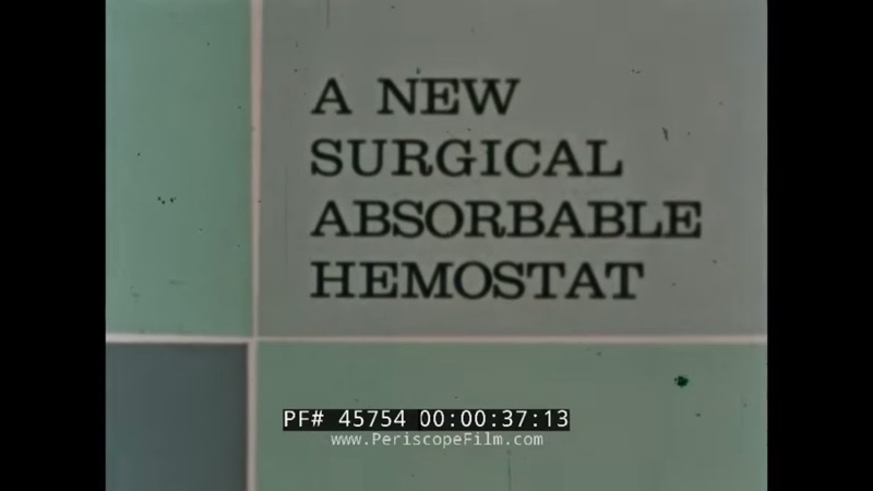 SURGICEL SURGiCAL ABSORBABLE HEMOSTAT JOHNSON JOHNSON PROMOTIONAL FILM 45754