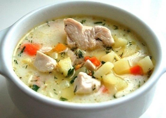 Суп из куриного филе с сыром - пошаговый фото рецепт ...