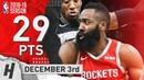 James Harden Full Highlights Rockets vs Timberwolves 2018.12.03 - 29 Pts, 8 Ast