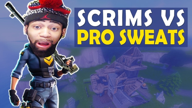 SCRIMS VS THE PRO SWEATS HELP ME I NEED MATS HIGH KILL FUNNY GAME Fortnite Battle Royale