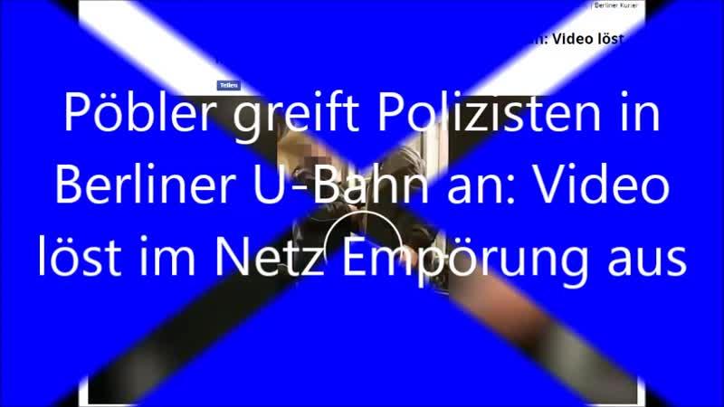 22 01 2019 und angebrüllt Pöbler greift Polizisten in Berliner U Bahn löst im Netz Empörung aus