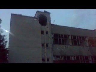 Красный Лиман. Последствия артобстрела. Разрушенный город. Полностью уничтожен хлебзавод