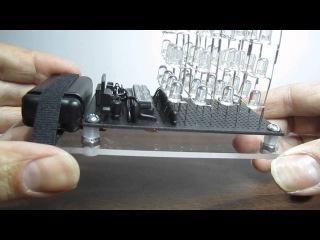 4x4x4 LED Cube with bare bones Arduino