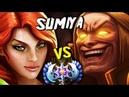 Sumiya Invoker God vs DOMINATING Ancient Windranger Same Medal Battle Dota 2