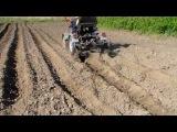 Адаптер к мотоблоку с двумя окучниками. Высадка растений и картофеля.