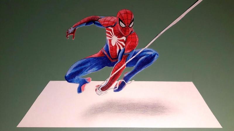 Spider Man PS4 3Д Рисунок