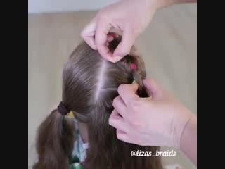 Очень красивая причёска ☺ vk.com/luckycraft – подпишись!
