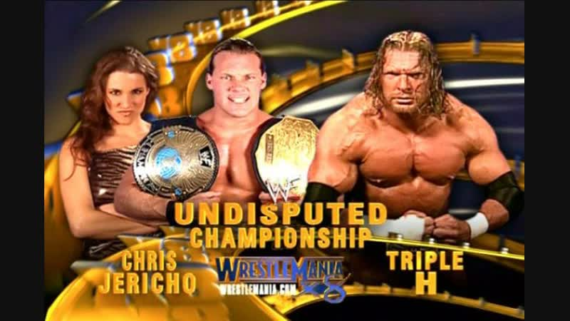 WWE Mania WrestleMania X8 Chris Jericho c vs Triple H Undisputed Championship