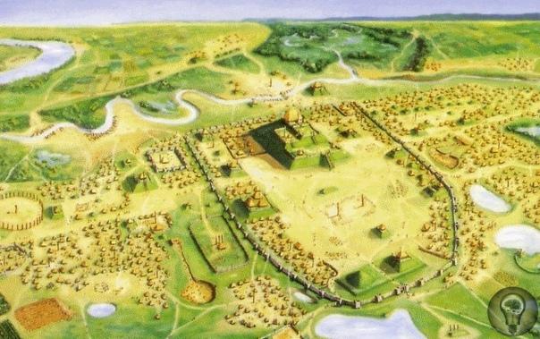 Курганы Кахокии. Под именем Кахокия ученый мир знает древнее индейское поселение, что расположено неподалеку от американского Иллинойса. Археологи говорят, что город появился еще в 650 году.