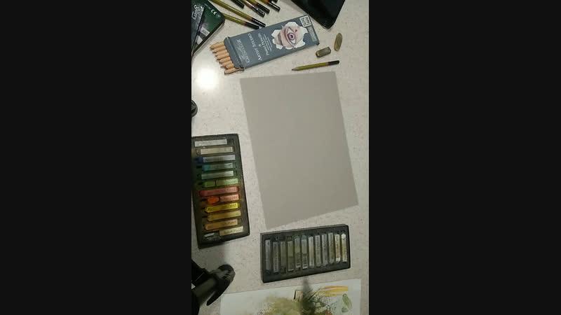 Опять что то рисую пастелью