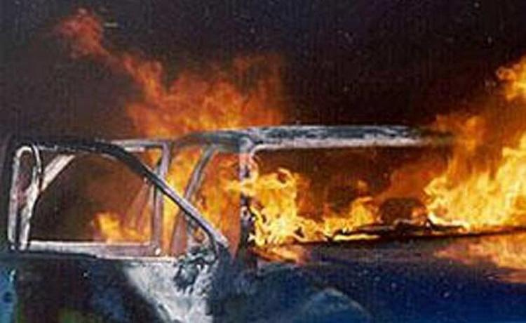 В Исправной сгорел автомобиль