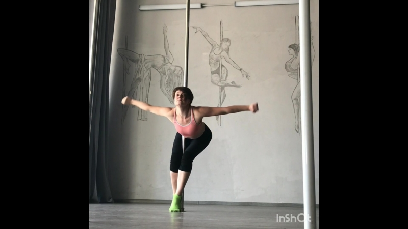 Околопилонная хореография (партер, pole dance floorwork) студия Dinamika Воронеж Пилюгина Лили