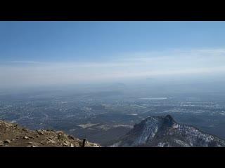 Вид с вершины горы Бештау.