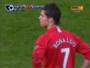 Победный гол Роналду в матче с Эвертоном на последних минутах (2007 год)