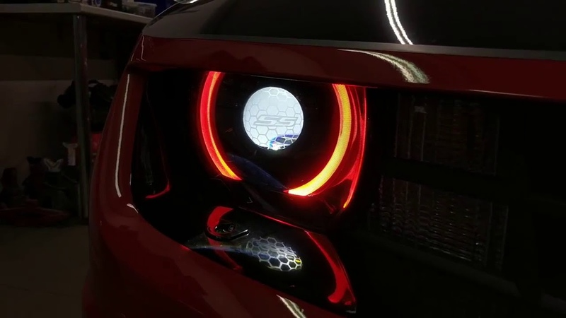 Camaro RGBW Demon Eyes and Halos with BT Controller installed in ALFA CAR