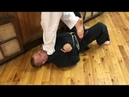 Sanchin kata Uechi ryu karate / training of the neck muscles and breathing