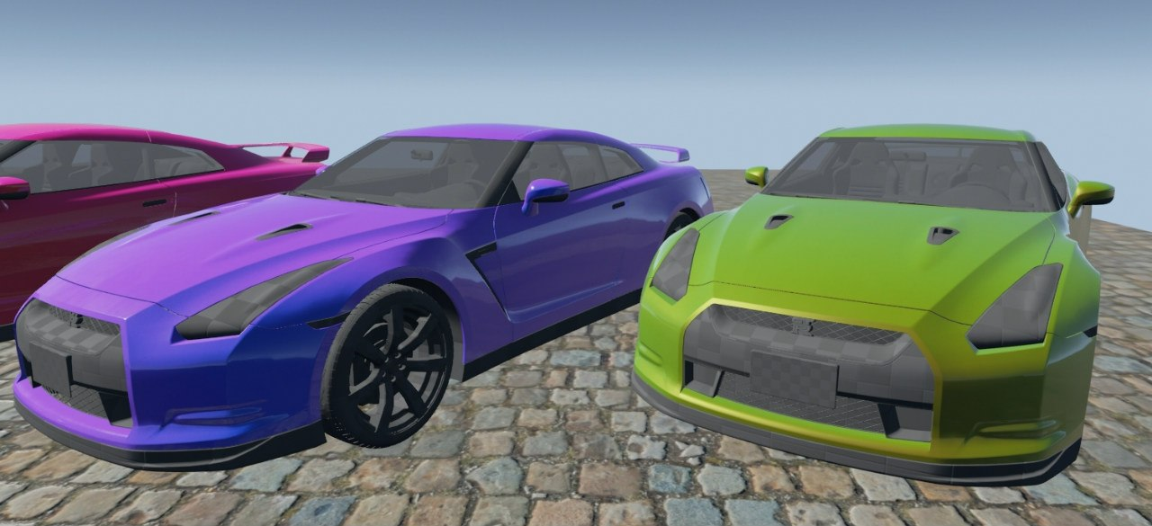 car paint material for unreal engine 4