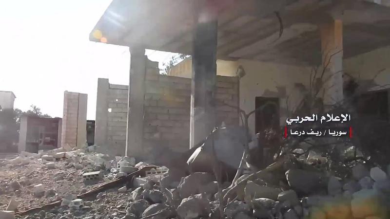 Специально: сцены из-под контроля сирийской армии в двух деревнях в бассейне реки Ярмук и уничтожение ряда механизмов