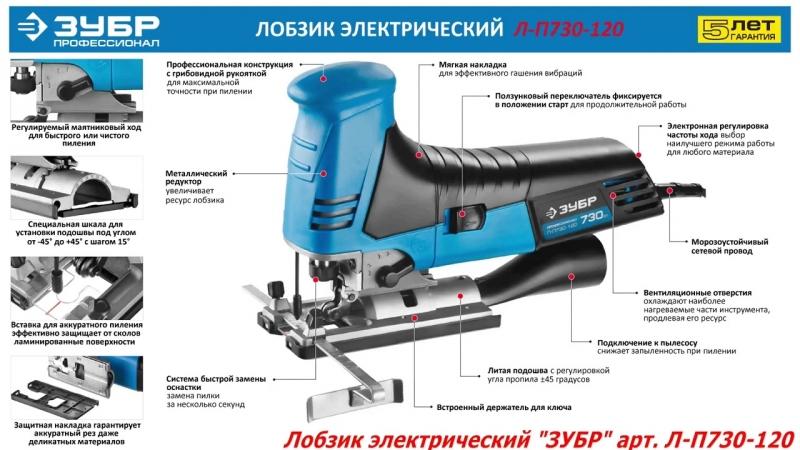 ЭЛЕКТРОЛОБЗИК ЗУБР Л-П730-120Л-П730-120