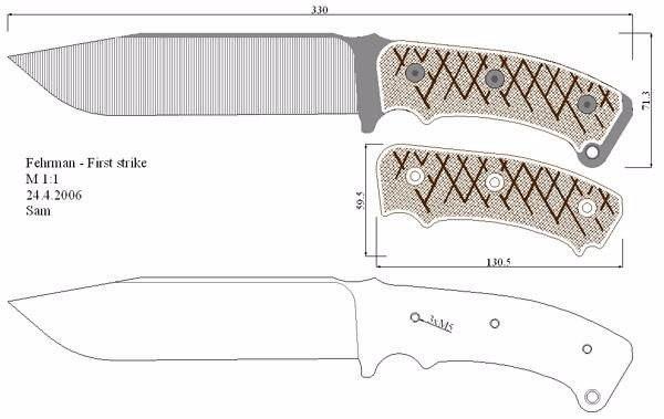 Так ножи выглядят на чертежах.