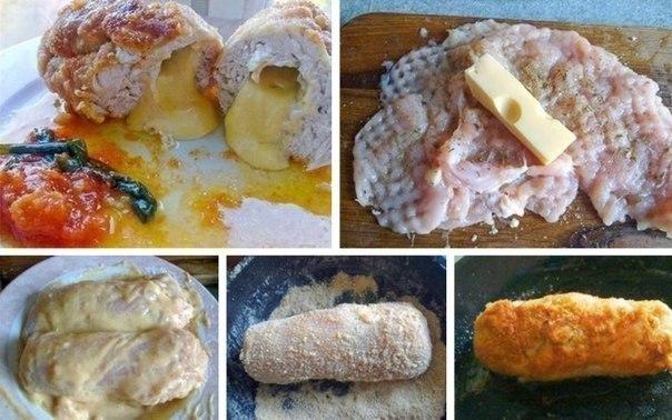 Просто, быстро, вкусно ;)   Ингредиенты:  - куриная грудка - 1 шт  - сыр.