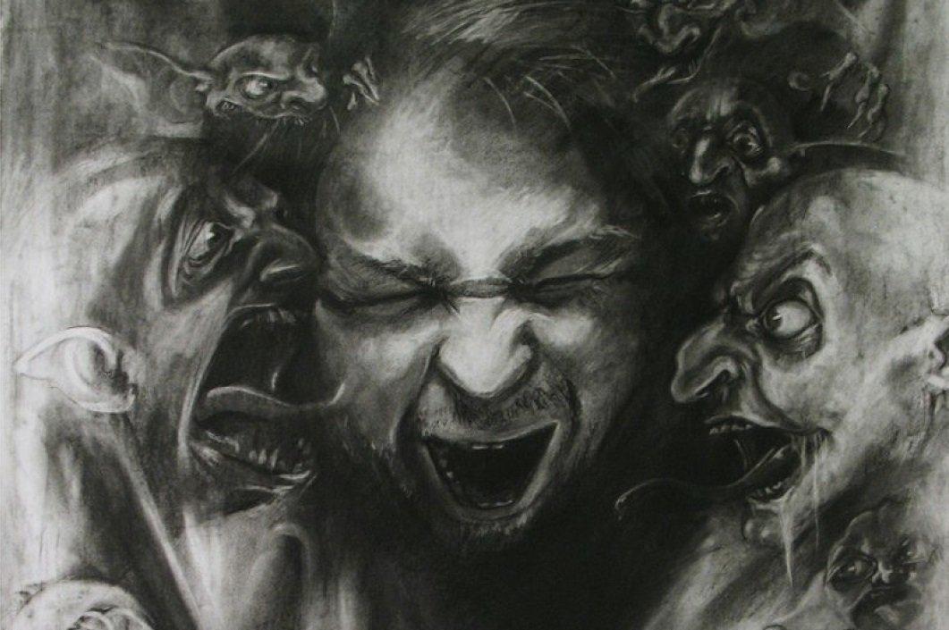 Картинка бес и человек