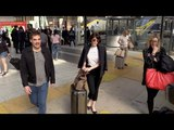 EXCLUSIVE Gemma Arterton arriving at gare du Nord train station in Paris