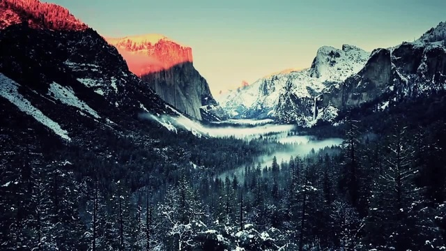 Winter in Yosemite National Park · coub, коуб