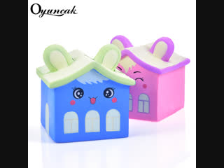 Oyuncak Antistress Fun Squishy Slow Rising Squishe House Novelty Gag Toy Stress Relief Toy Gadget Gag Practical Jokes Toy