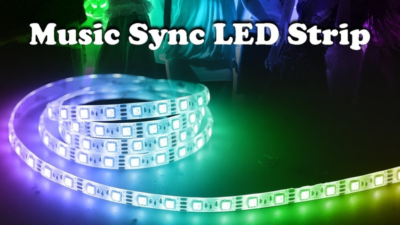 Music Activated LED Strip Unboxing and Install on TV