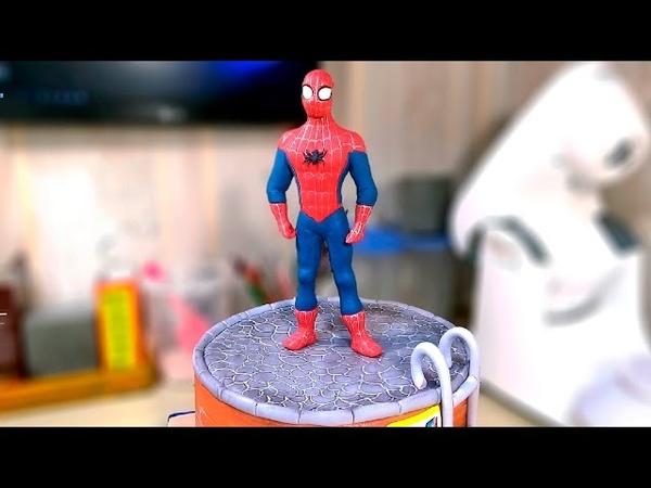 Человек - паук. Фигурка из мастики Spider - man. The figure of mastic - Я - ТОРТодел!