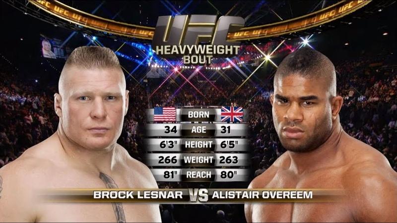 UFC St. Petersburg Free Fight Alistair Overeem vs Brock Lesnar
