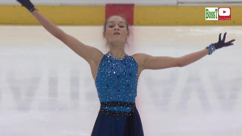Anna TARUSINA SP ISU JGP Bratislava 2018