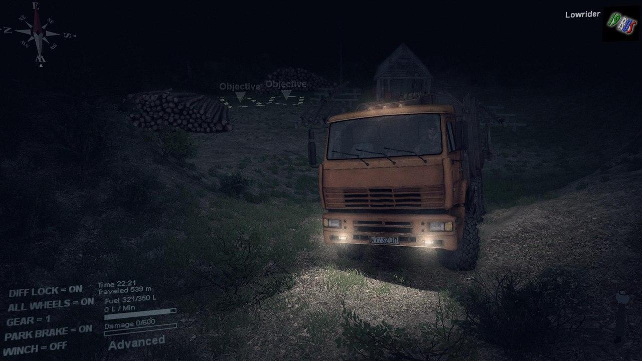 """Карта """"Level_19rus_abaza"""" для 25.12.15 для Spintires - Скриншот 1"""